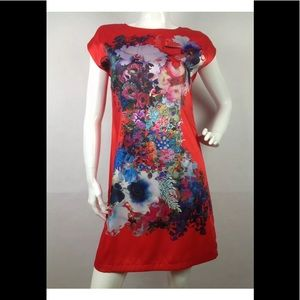 Cynthia Rowley Red Spade Dress Size 14